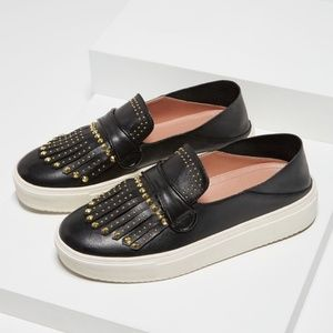 BCBGMAXAZRIA Dita Studded 100% Leather Sneakers
